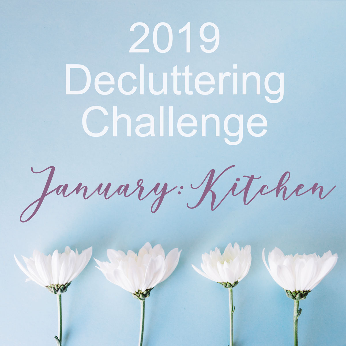 2019 Decluttering Challenge- In January we are focusing on decluttering and organizing the kitchen!