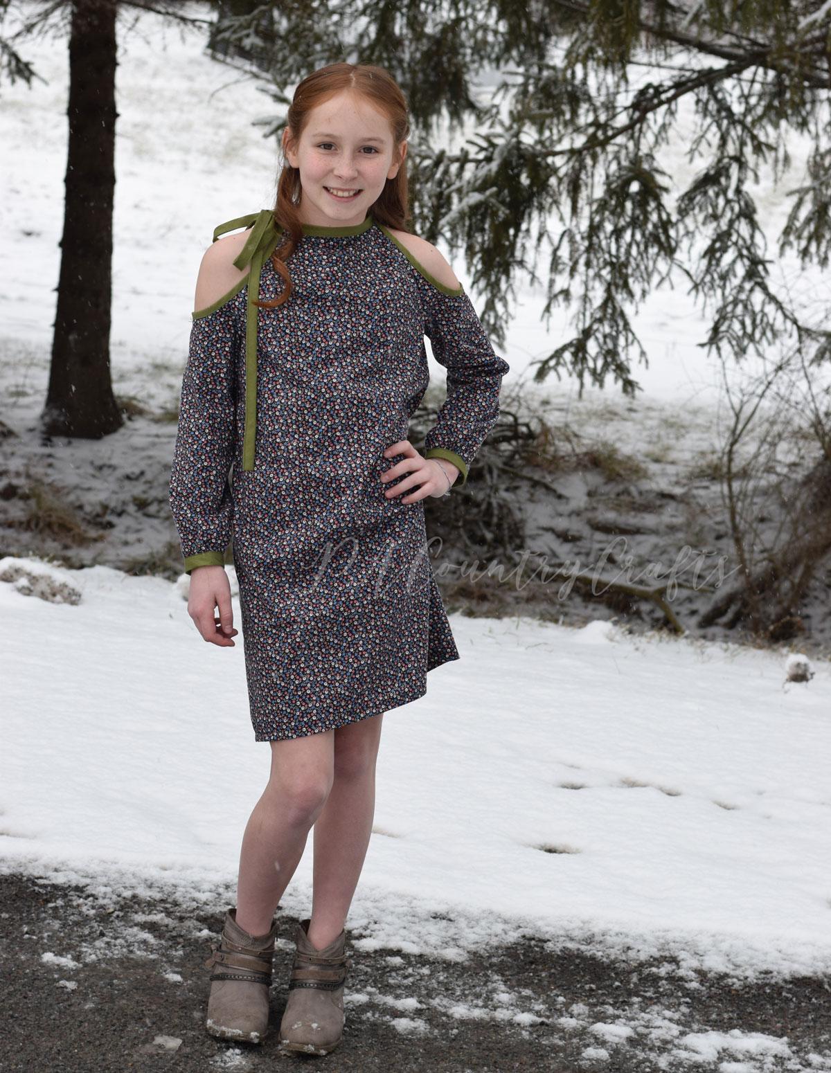 Girls Lynx dress sewing pattern