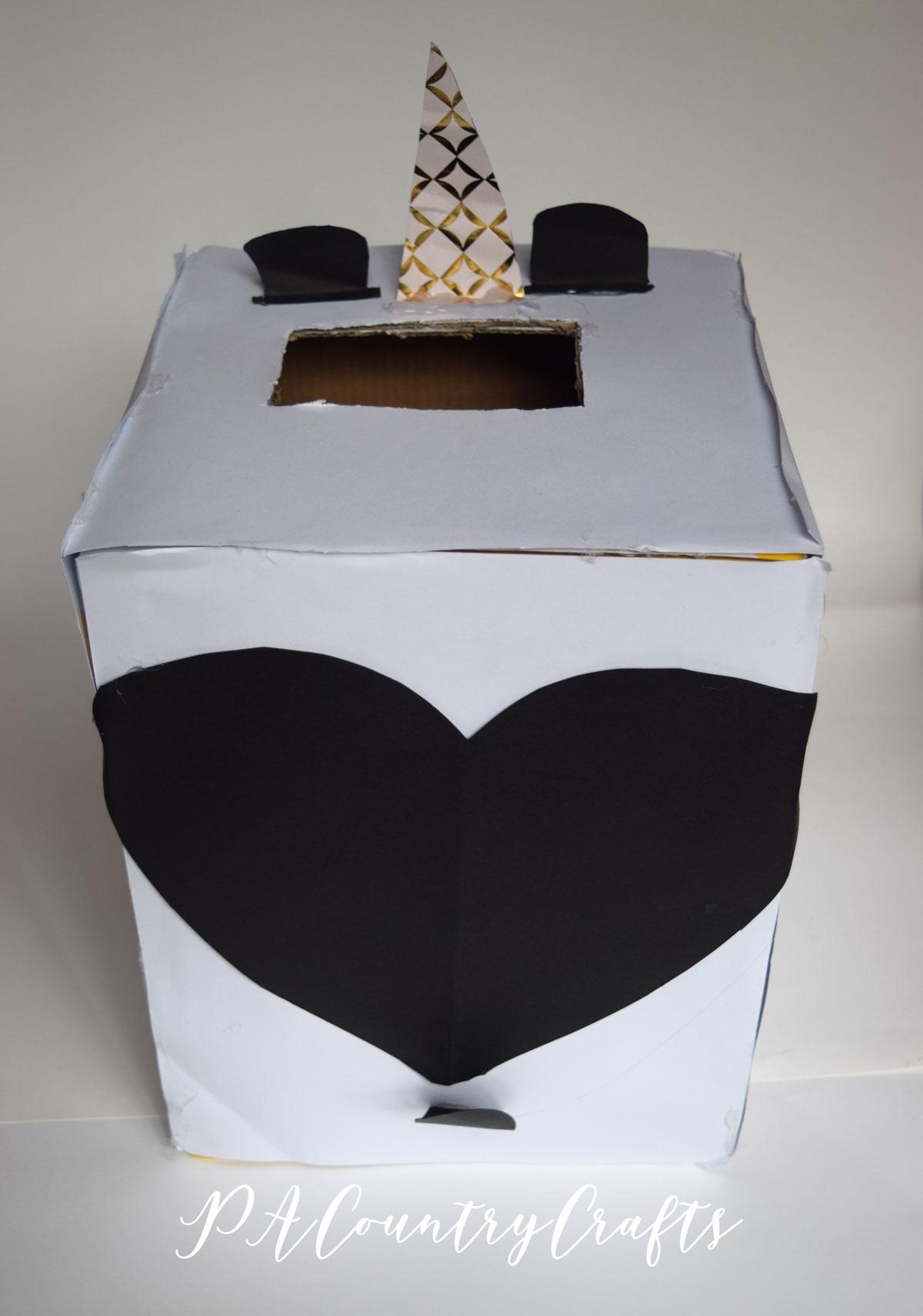 Panda valentine box made by kids!