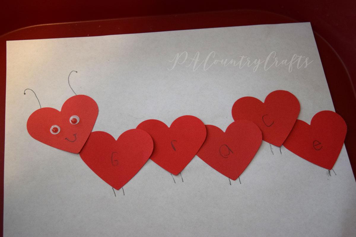 Heart name caterpillar