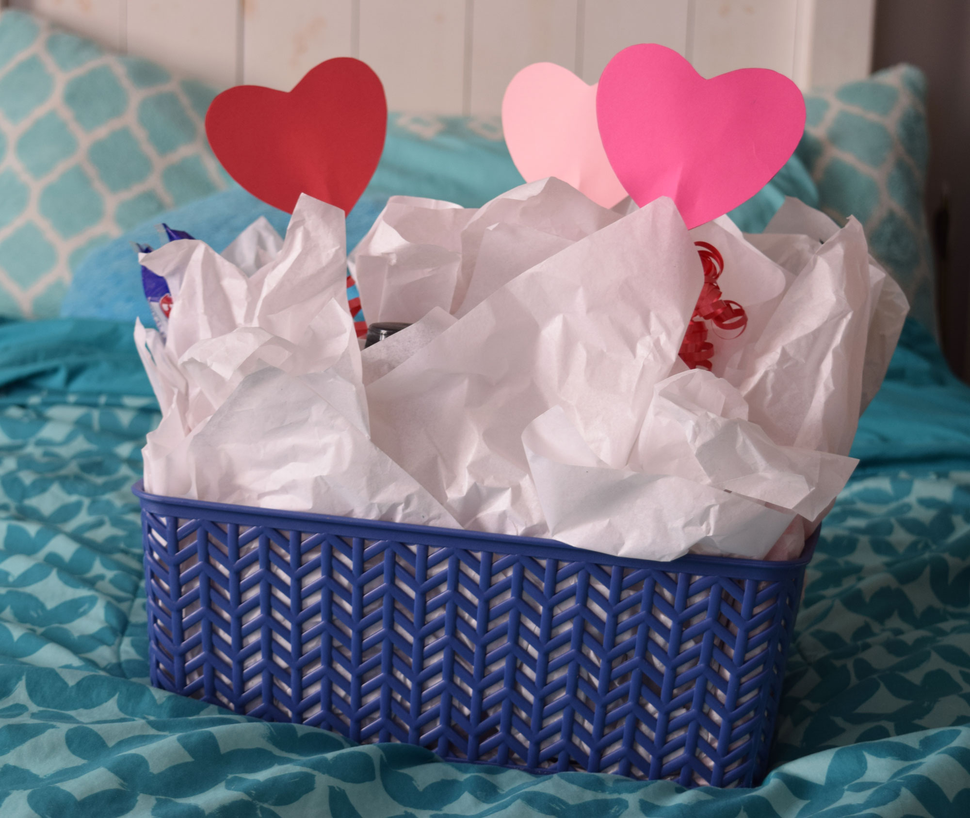 Valentine Candy Gift Basket for Him
