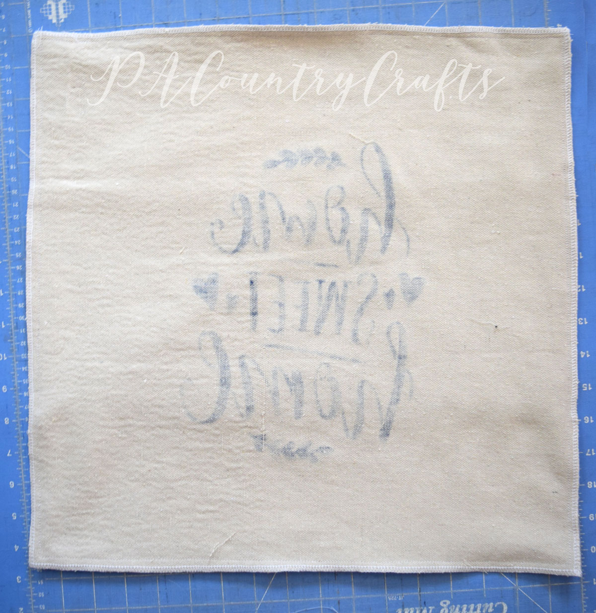 How to Sew Drop Cloth Pillow Covers
