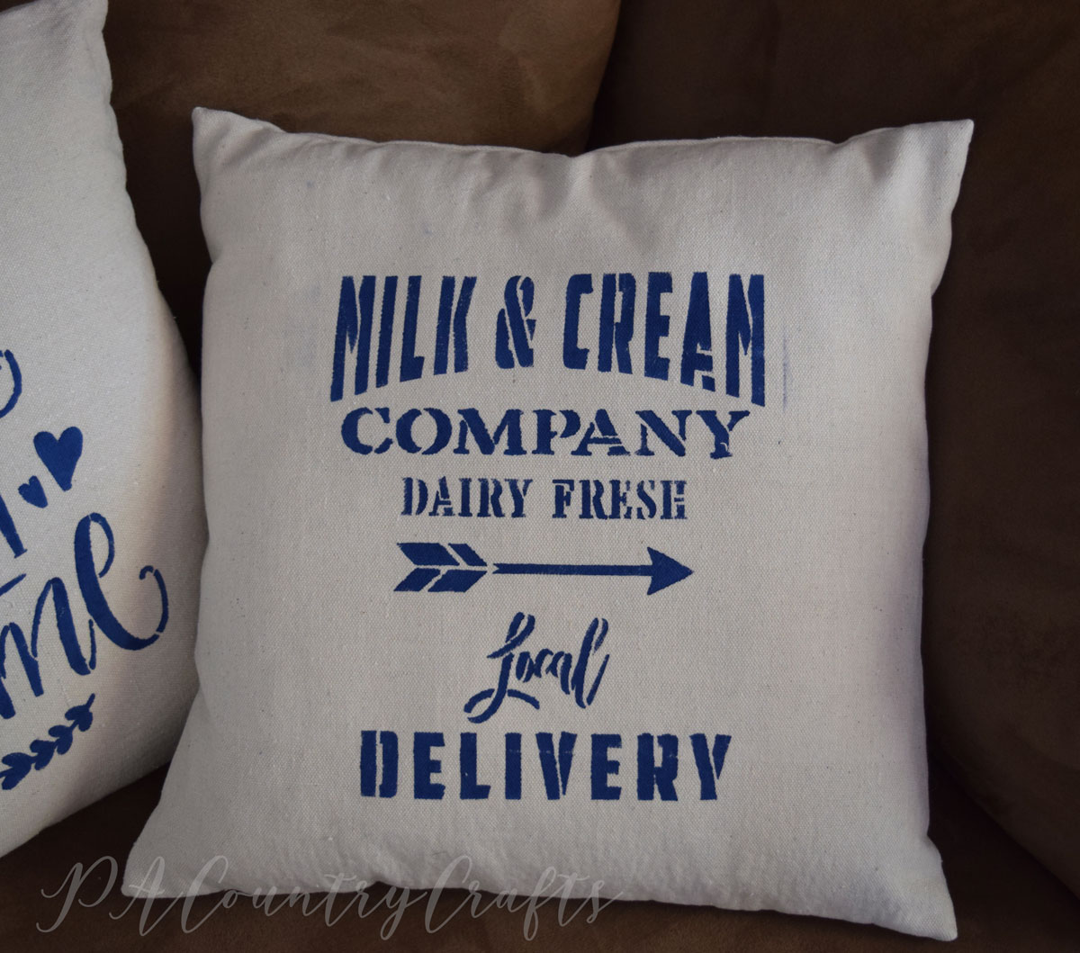 Drop Cloth Farmhouse Pillows