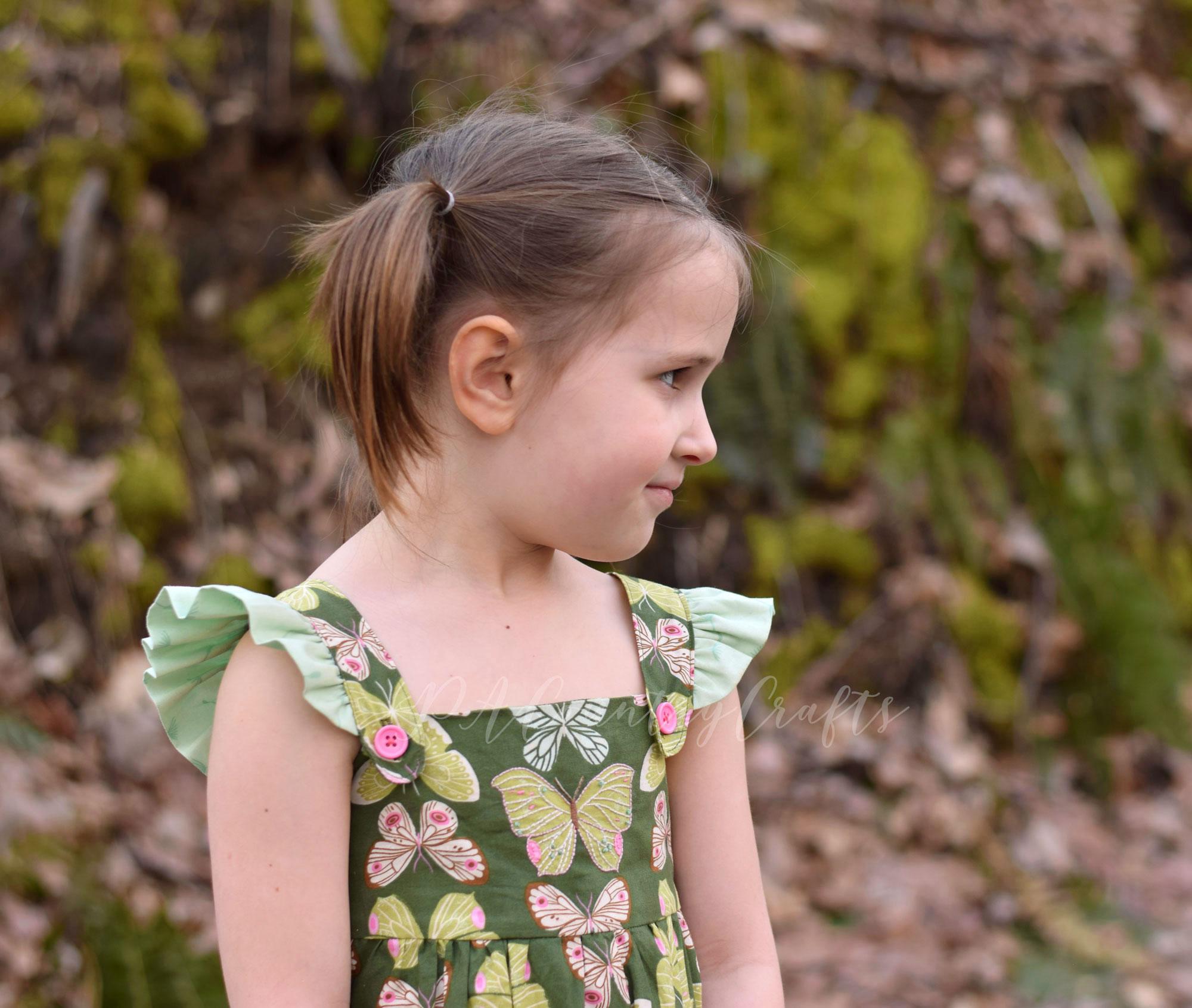 Flutter sleeve jumper from vintage sewing pattern