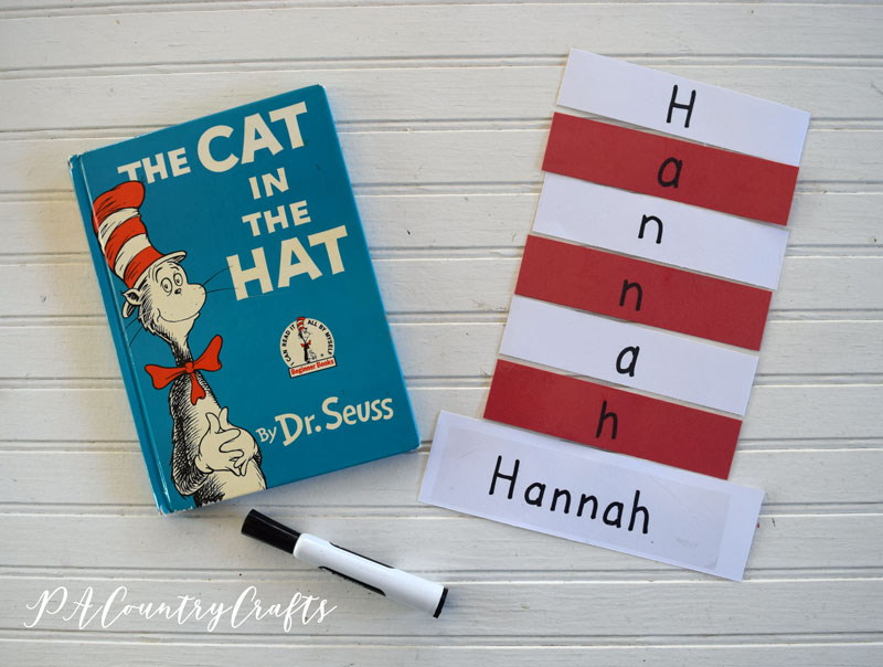 Cat in the Hat Name Practice