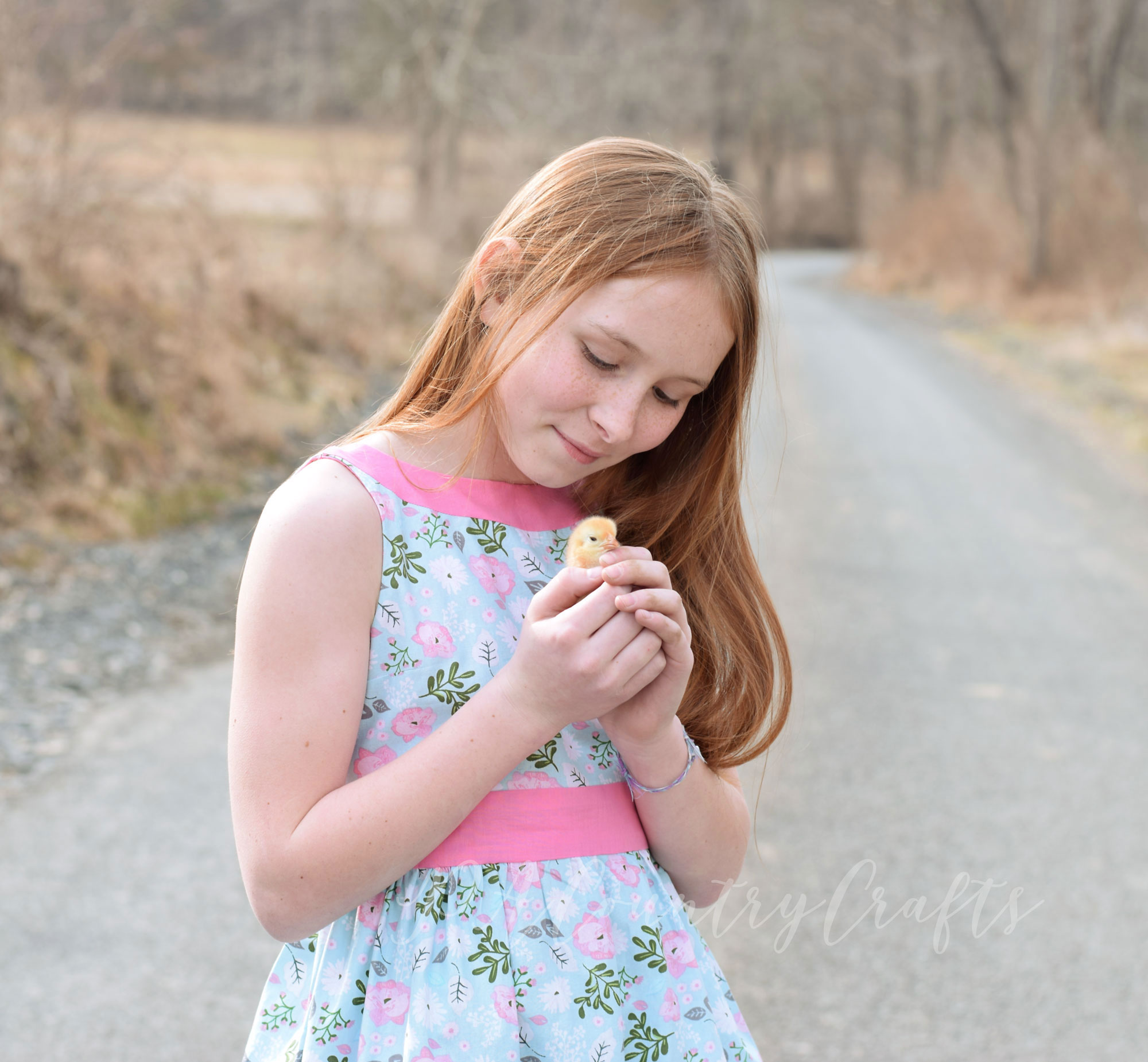 Girls' Easter dress made with Juniper pattern by Sofiona Designs