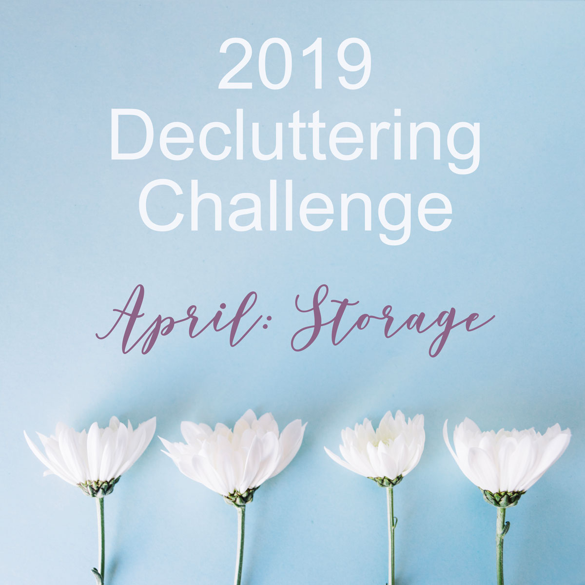 April Decluttering Challenge: Storage
