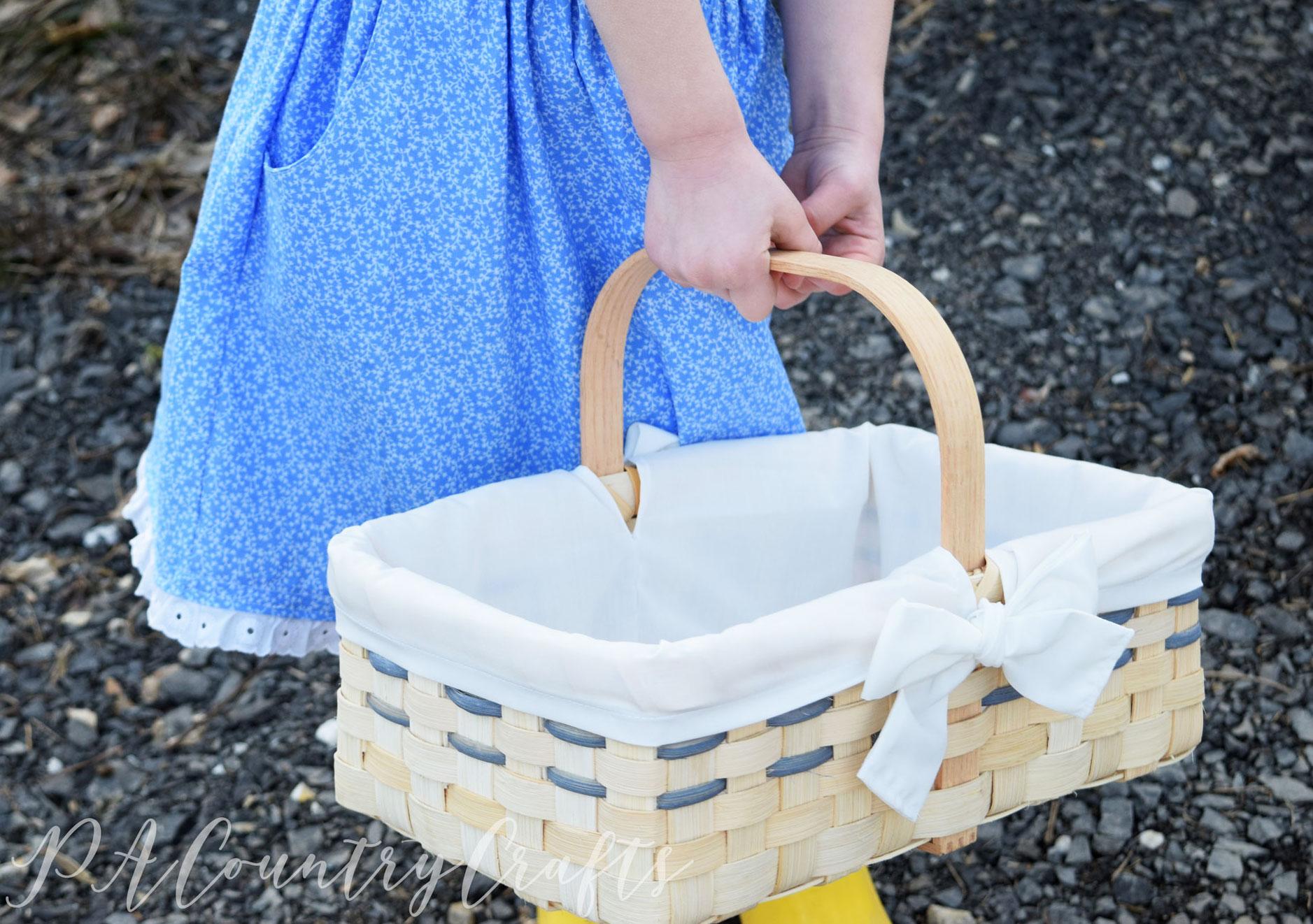 farmers market basket liner tutorial