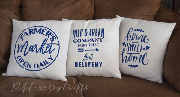 Upcycled Drop Cloth Pillows