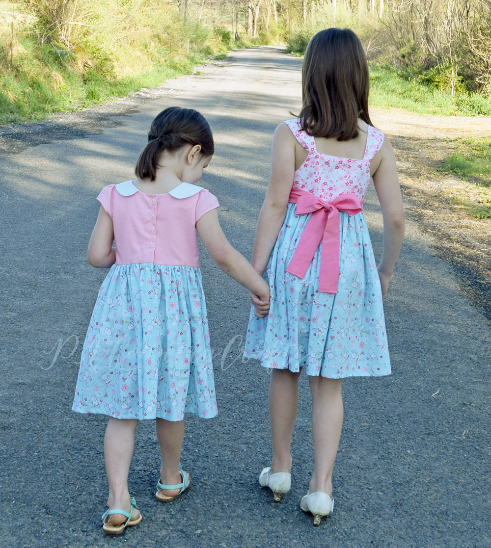 Pink and Blue Easter Dresses