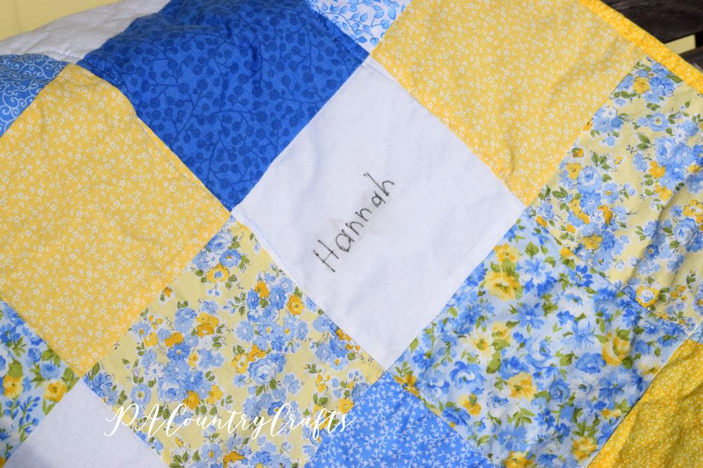 Kindergarten class quilt