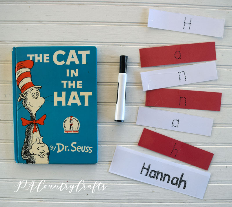 Cat in the Hat Name Practice Activity