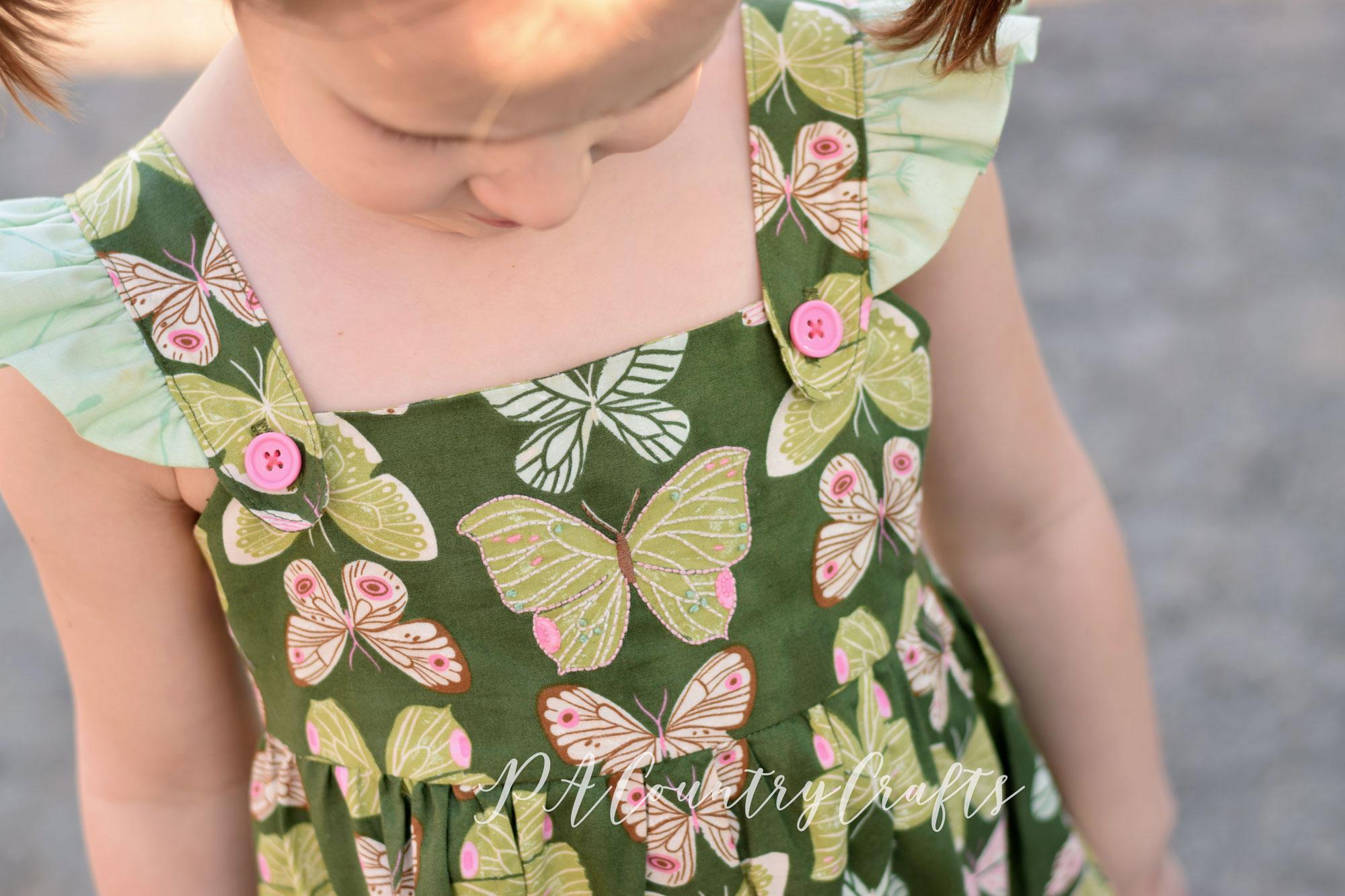Vintage Green Butterfly Dress