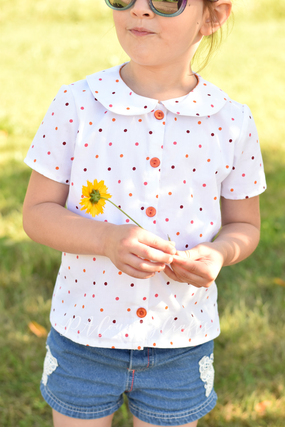 Girls blouse made from a flat sheet! Maria Blouse from Project Run and Play shop