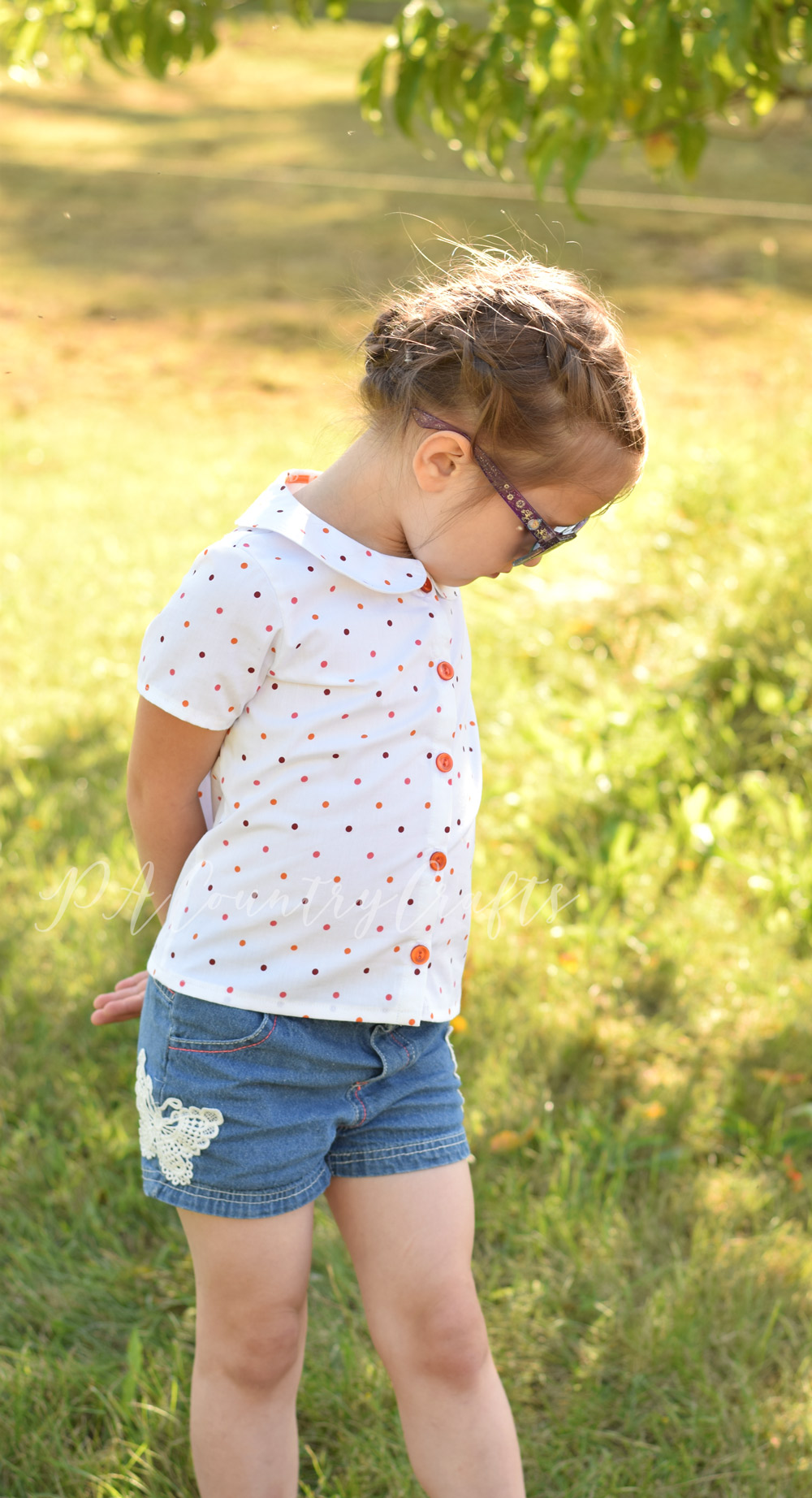 Cute and simple girls' blouse sewing pattern- Maria Blouse from the Project Run and Play shop