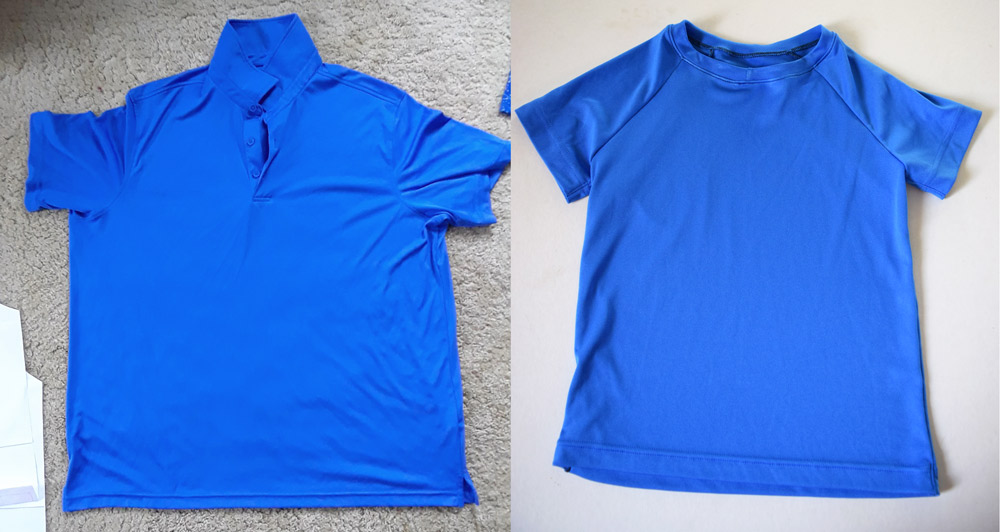 Men's polo to girls' raglan refashion with the Aurora pattern from Sofiona Designs