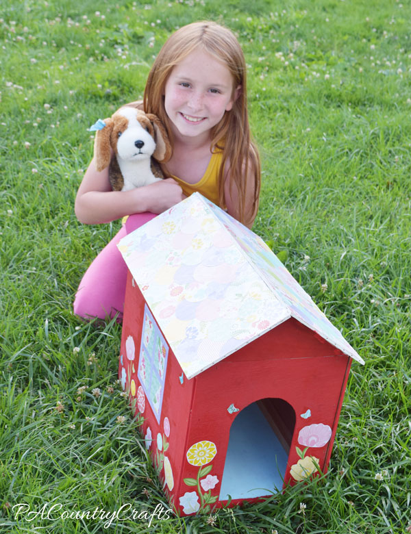 Mod Podge Toy Doghouse