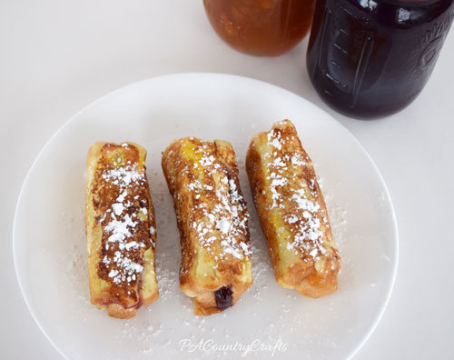 PBJ French Toast Roll-Ups