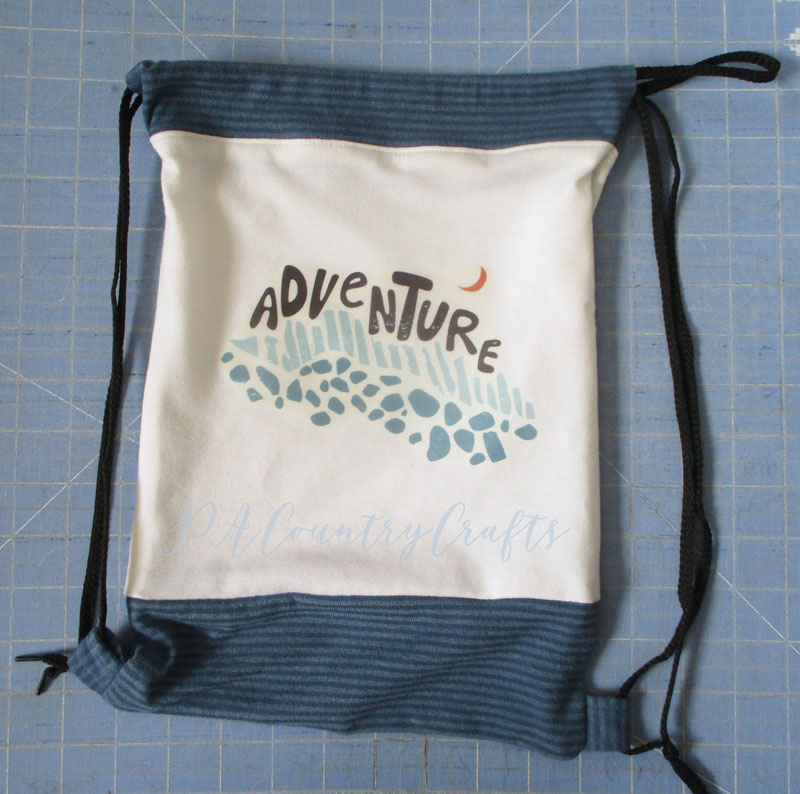 How to make a drawstring bag with arm holes for stuffed animals or dolls.