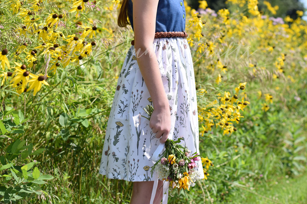 Wildflower Surprise fabric makes a lovely girls' skirt or dress!