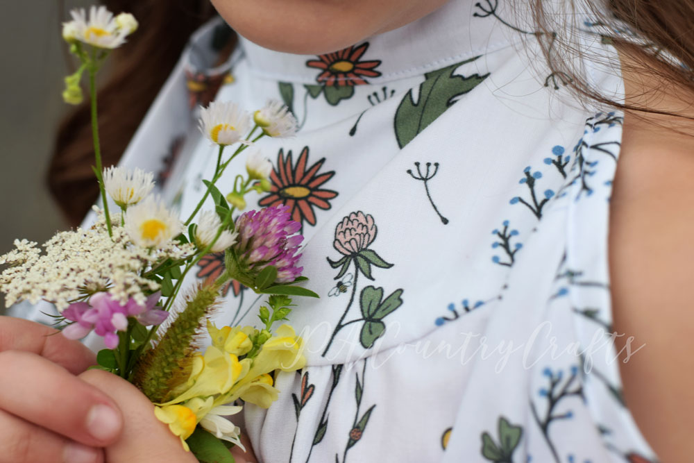 There are hidden surprises in the fabric! Wildflower Surprise for Project Run and Play