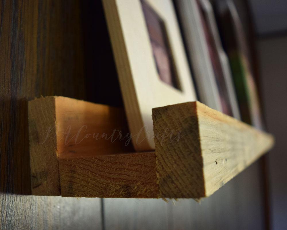 how to make a wood photo collage shelf