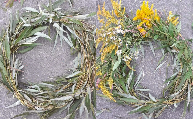 How to make a fall wreath out of wildflowers