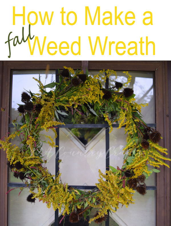 How to make a DIY natural fall weed wreath!