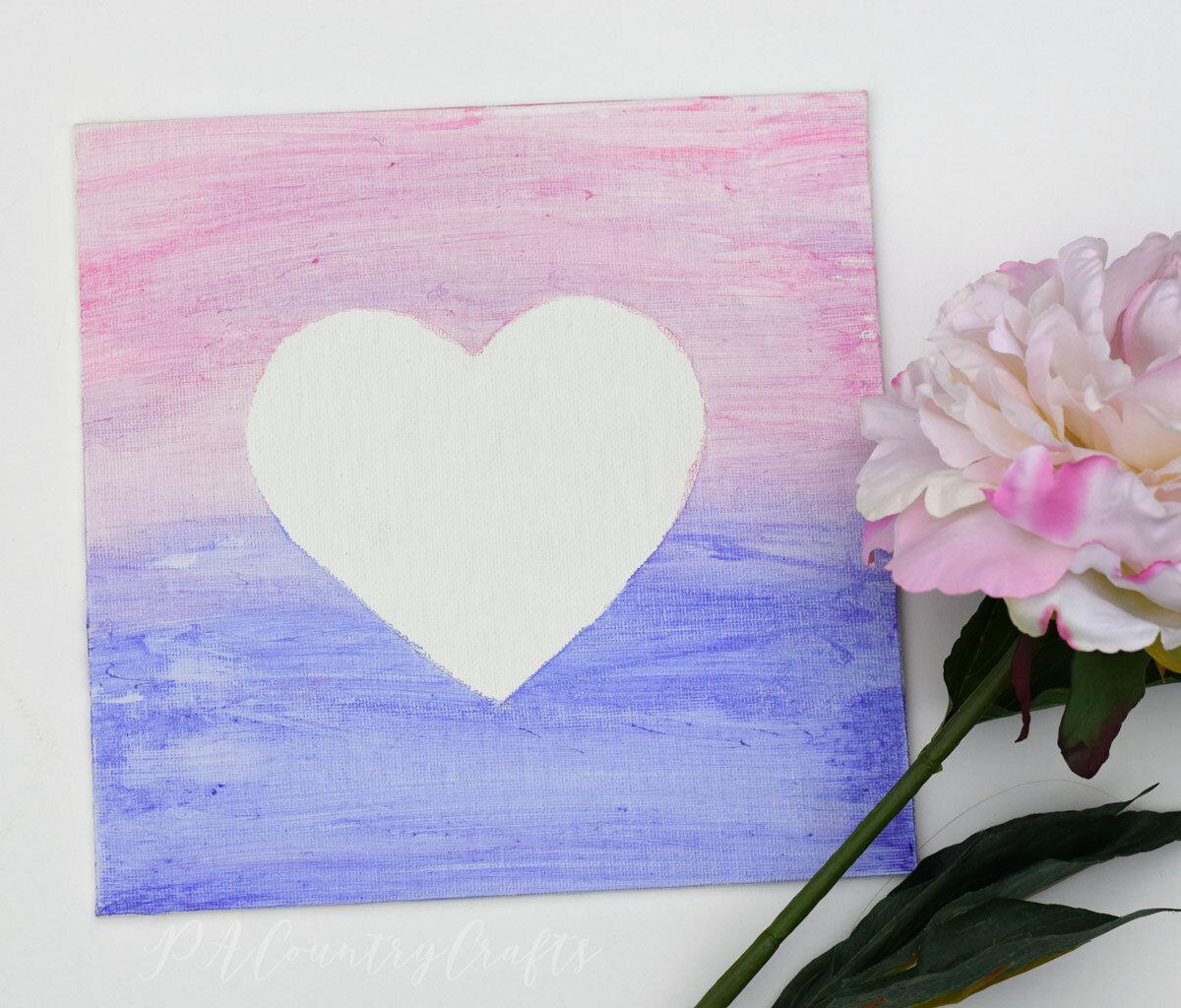 Heart Canvas Kids Craft Tutorial Pacountrycrafts