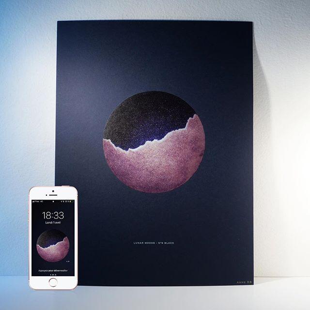 MAKE UP YOUR PHONE! 📲🎨 La Black Moon habille vos smartphones pour la nouvelle lune.  Téléchargements sur mon site (link in bio 🔝) dans la rubrique Make Up Your Phone.  #iphonewallpaper #iphone #backgroundart #iphoneback #iphonebackground #androidwallpaper #android #lunarmoods #painting #igersart #moon #moonlovers