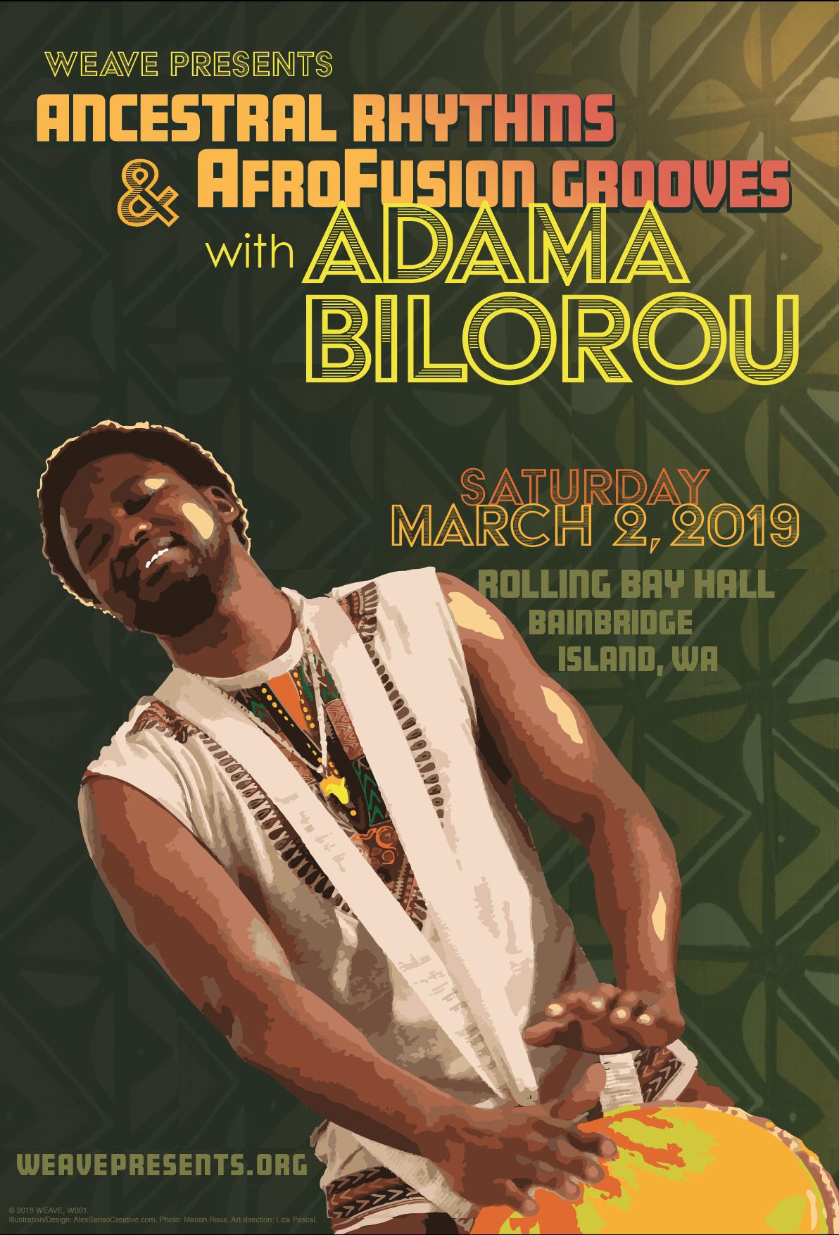 Adama Bilorou concert poster
