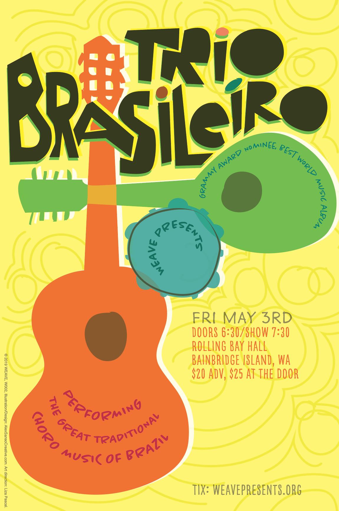 Trio Brasileiro concert poster