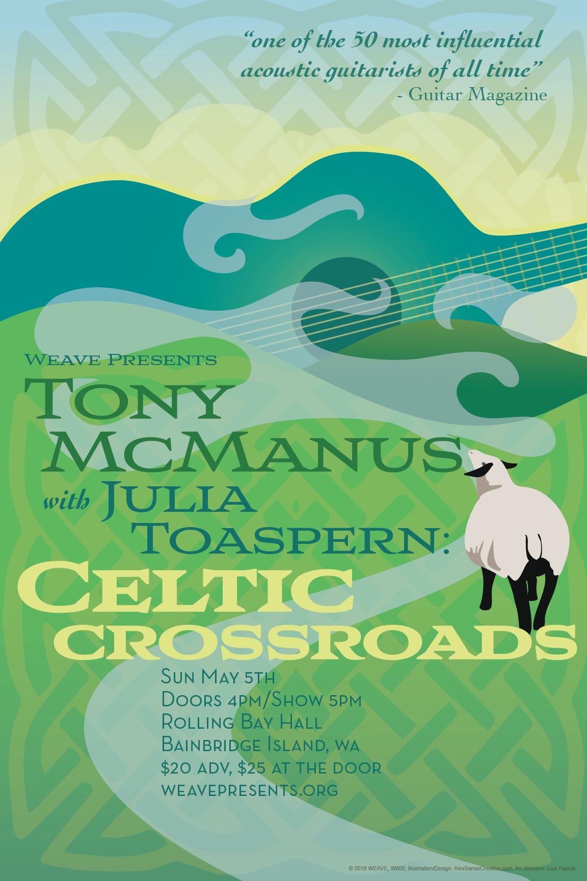 Celtic Crossroads concert poster
