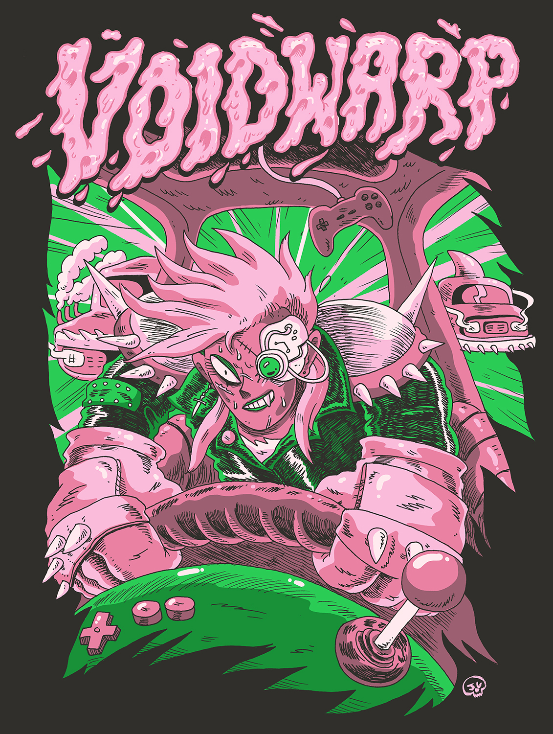 "AVAILABLE NOW:  New VOIDWARP  ""The Slimeline""  Shirt Design by  Jimmy Giegerich"