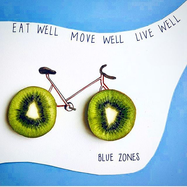 Happy Summer Friday! If you do not already, check out @bluezones for a page dedicated to maximizing LIFE!🚲🥝☀️ ____ #summer #friday #happy #sunshine #eatwell #movewell #livewell #biking #kiwi #thehealinghouse 🏡✌️💚