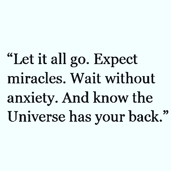 Give in to the magical universe 💫 _____ #expectmiracles #nofear #universe #letitgo #collectivespirit #anxiety #depression #begone #thehealinghouse @danielle.1111