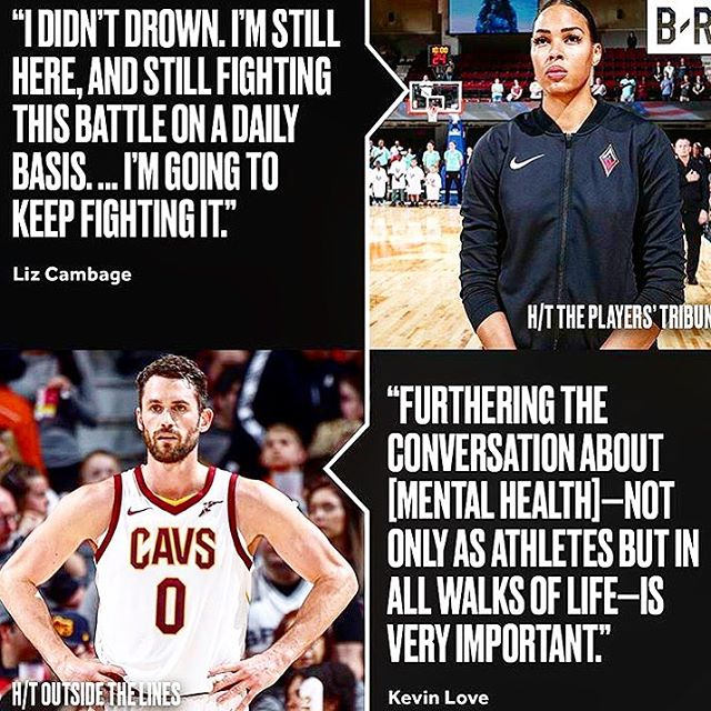 Professional hoopers Liz Cambage and Kevin Love are speaking up about mental health 👊🏀🏡 _____ #wnba #nba #basketball #athletes #mentalhealth #awareness #thehealinghouse #alternative #integrativepsychiatry #holistic #mentalwellness #psychotherapy #counseling #brainhealth #orlandobrainhealth #thorntonpark #orlando #southjerseybrainhealth #cherryhill #haddonfield #voorhees #moorestown #southjersey
