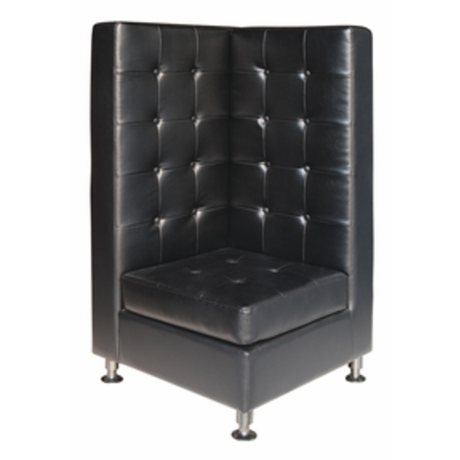 Black High Back Modular Banquette Corner.png
