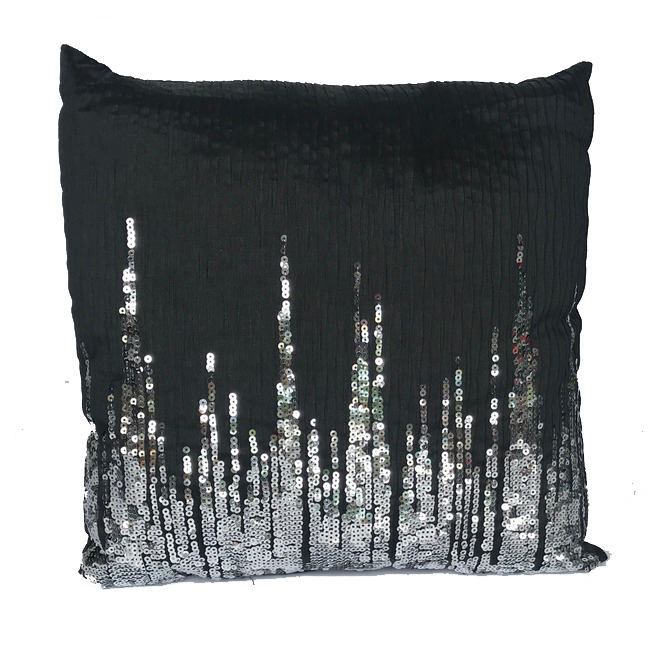 Black Pillow with Silver Sequined.jpg