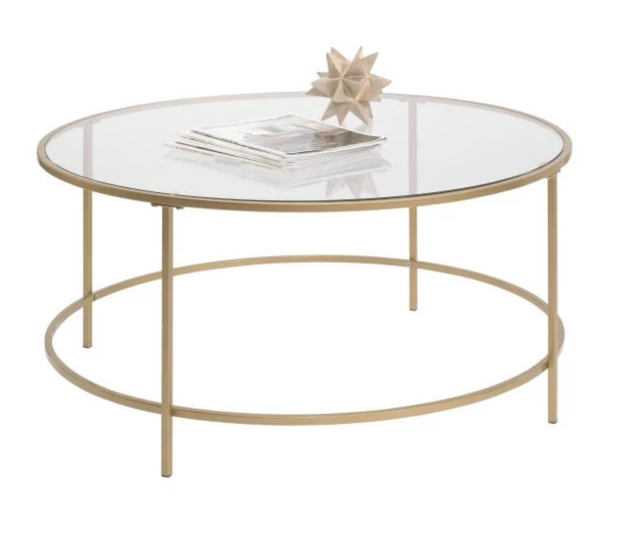 Gold Round Coffee Table with Glass Top.png