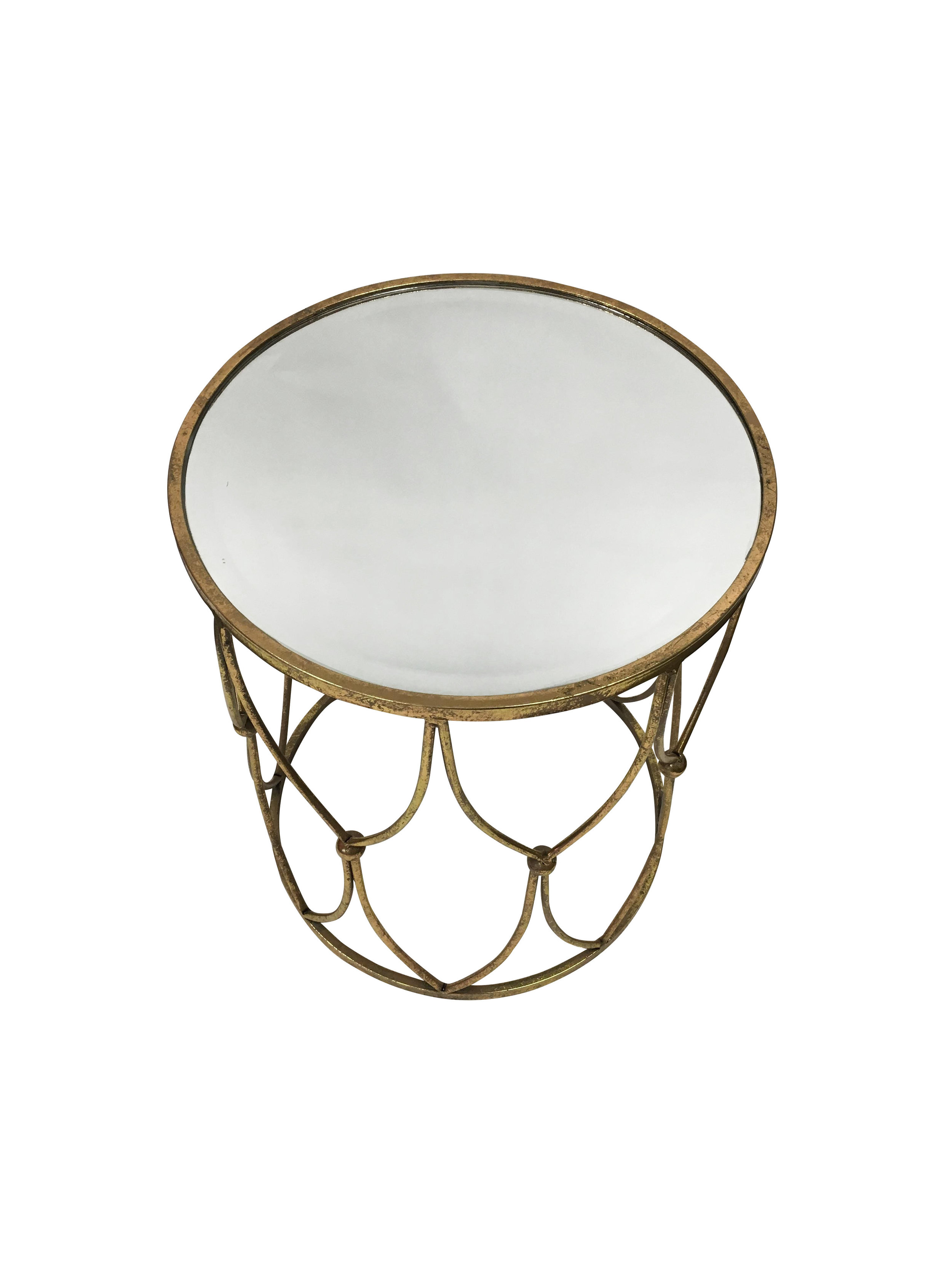 Gold Round Side Table with Mirrored Top4.jpg