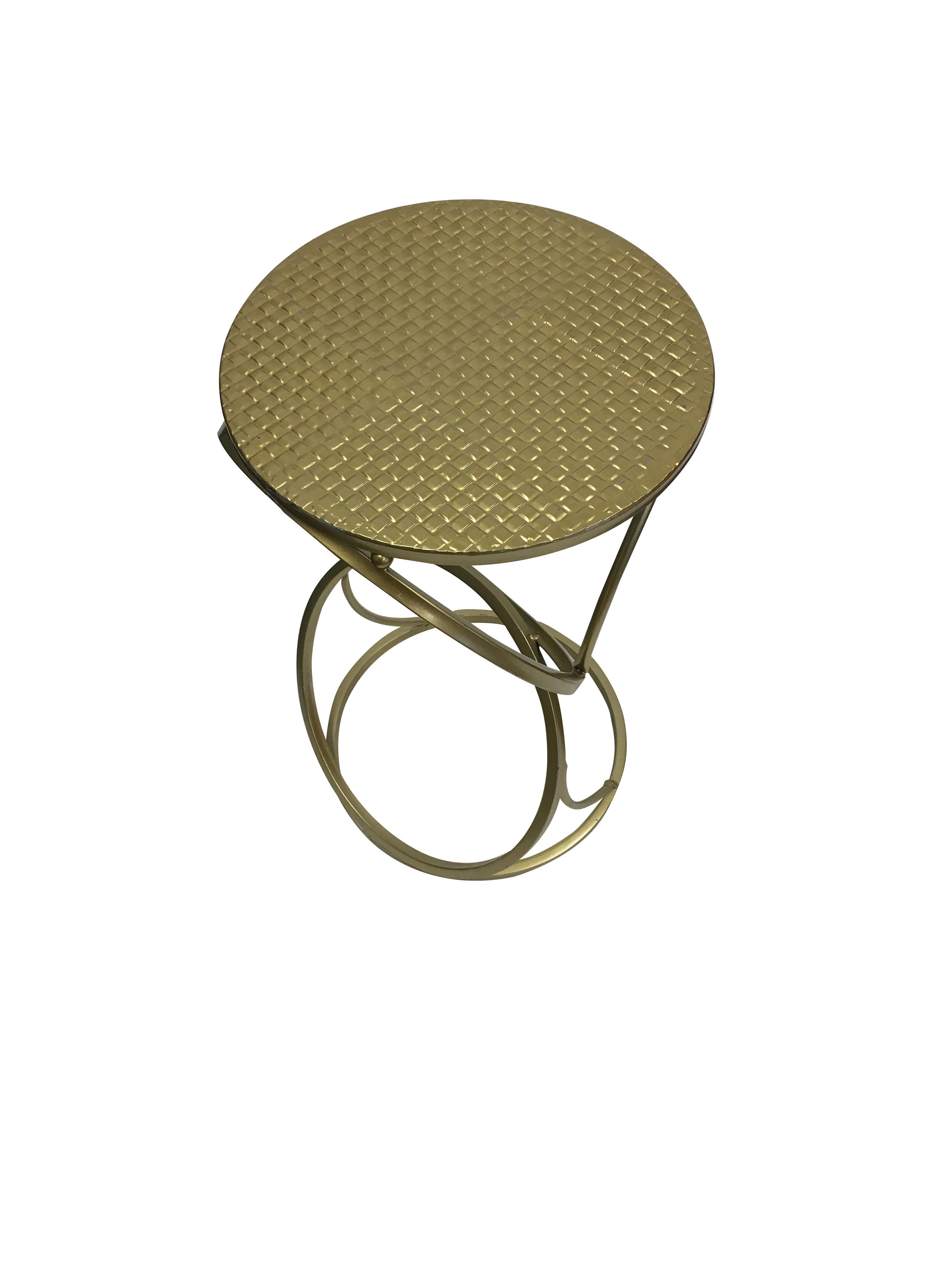 Gold Round Small End Table1.jpg