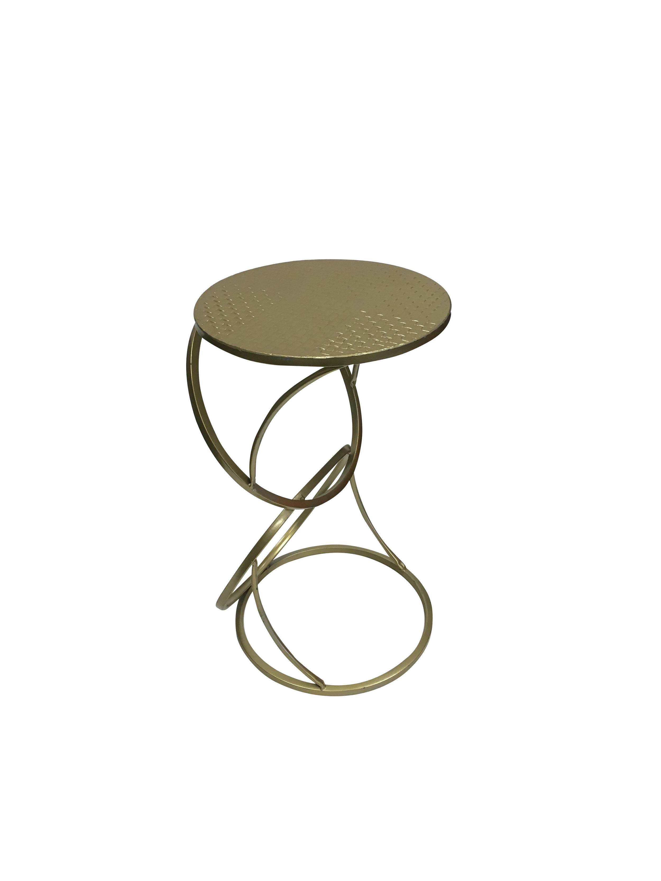 Gold Round Small End Table2.jpg