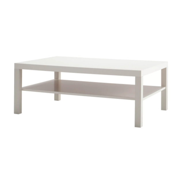 Large White Coffee Table .png