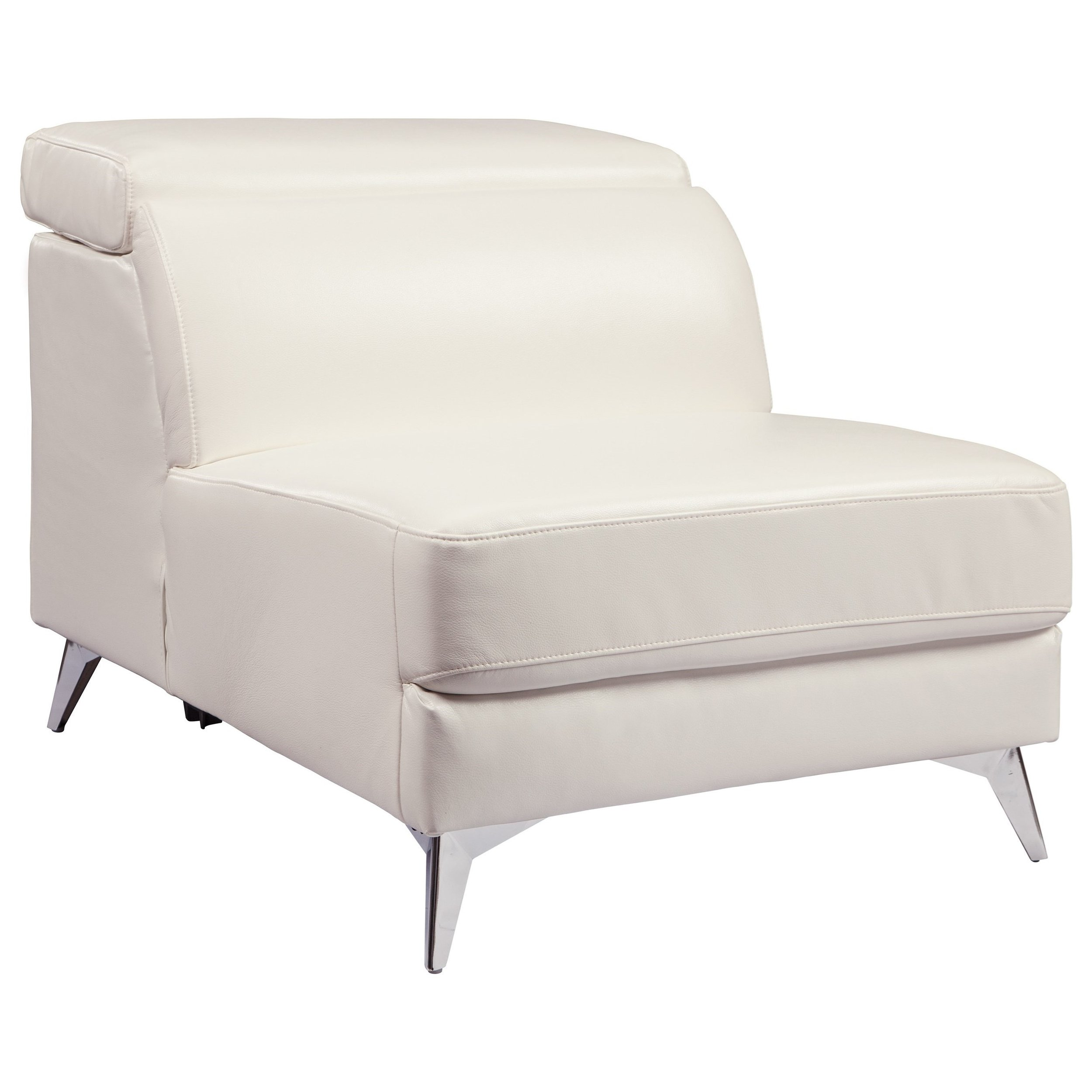 White Armless Side Chair with Adjustable Back 2.jpg