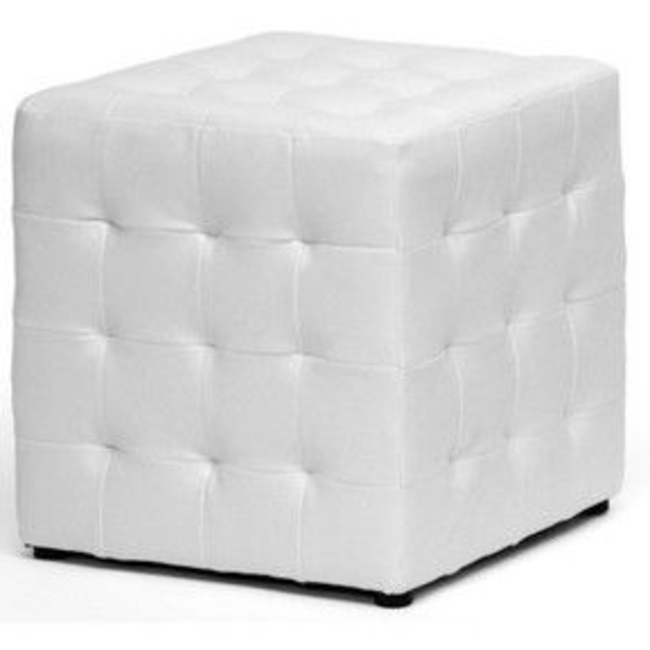 White Cubed Tufted Ottoman .png