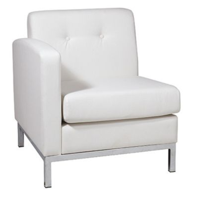 White Modular Left Arm Chair .png