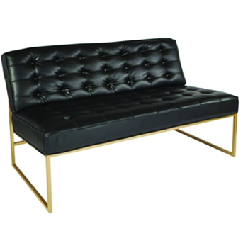 Black & Gold Sofa -