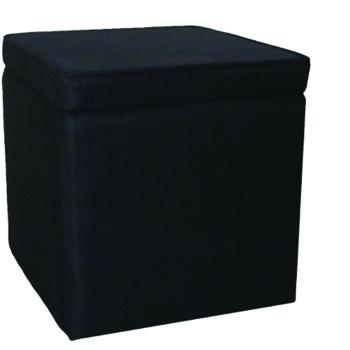 Black Cubed Ottoman -