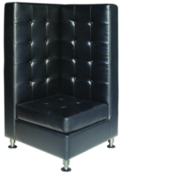 Black High Back Modular Banquette Corner -